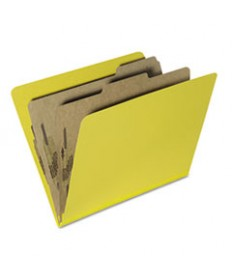 7530015567918, TOP TAB CLASSIFICATION FOLDERS, LETTER, 6-SECTION, YELLOW, 10/PK