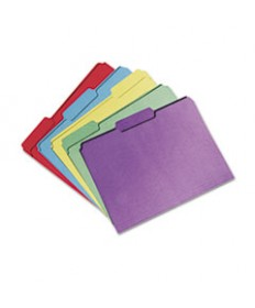 7530015664138, Recycled Folder, 1/3 Cut, Single Ply, Letter, Assorted, 100/box