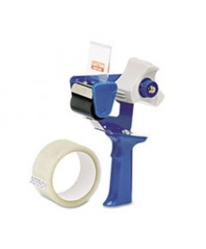 7520015664139, RETRACTABLE BLADE TAPE DISPENSER, 3 CORE, 2 X 30YDS TAPE, BLUE