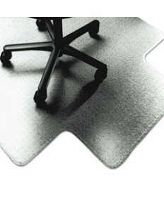 7220015772529, SKILCRAFT PVC CHAIR MATS, LOW TO MEDIUM PILE CARPET, 53 X 45, CLEAR
