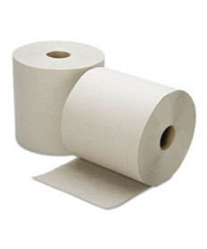 8540015915823, CONTINUOUS ROLL PAPER TOWEL, 8 X 800FT, NATURAL, 6 ROLLS/BOX