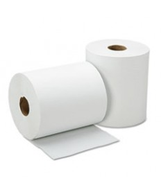 8540015923323, CONTINUOUS ROLL PAPER TOWEL, 8 X 600FT, WHITE, 12 ROLLS/BOX
