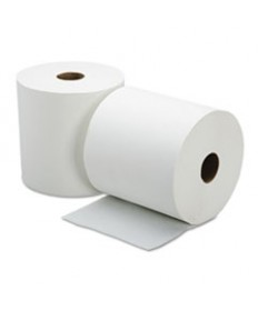 8540015923324, CONTINUOUS ROLL PAPER TOWEL, 8 X 800FT, WHITE, 6 ROLLS/BOX