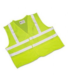 8415015984870, SKILCRAFT, SAFETY VEST--CLASS 2 ANSI 107 2010 COMPLIANT, LIME/SILVER, X-LARGE