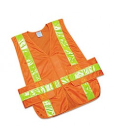 8415015984873, SKILCRAFT, SAFETY VEST--CLASS 2 ANSI 107 2010 COMPLIANT, ORANGE, ONE SIZE