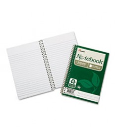 7530016002013, RECYCLED NOTEBOOK, COLLEGE RULE, 5 X 7 1/2, WHITE, 80/PAD, 6/PK