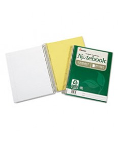 7530016002015 SKILCRAFT RECYCLED NOTEBOOK, 5 SUBJECTS, MEDIUM/COLLEGE RULE, GREEN COVER, 11 X 8.5, 200 SHEETS