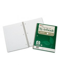 7530016002025, RECYCLED NOTEBOOK, COLLEGE RULE, 11 X 8 1/2, WHITE, 100/PAD, 3/PK
