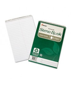 7530016002029, RECYCLED STENO BOOK, GREGG RULE, 6 X 9, WHITE, 60 SHEETS, 6/PK