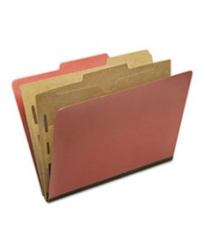 7530016006976, Classification Pocket Folder, 6-Section, Legal, Earth Red,10/box