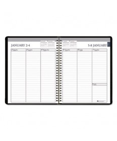 7530016007595 WEEKLY APPOINTMENT PLANNER, 6-7/8 X 8-3/4, BLACK/WHITE, 2019