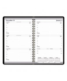 7530016007610 WEEKLY APPOINTMENT PLANNER, 5 X 8, BLACK/WHITE, 2019