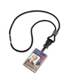 "8455016130195 SKILCRAFT BREAKAWAY LANYARD/SMART CARD HOLDER, 36"", POLYESTER, BLACK, DOZEN"