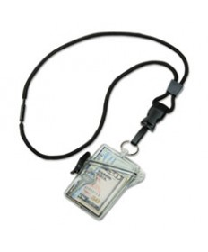 8455016259782 SKILCRAFT WATERPROOF MULTIPLE ID HOLDER WITH LANYARD, CLEAR, DOZEN