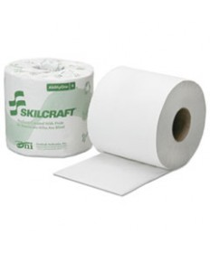 """8540016308728, SKILCRAFT TOILET TISSUE, SEPTIC SAFE, 1-PLY, WHITE, 4"""" X 3.75"""", 1,000/ROLL, 96 ROLL/BOX"""