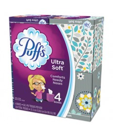 Ultra Soft Facial Tissue, 2-Ply, White, 56 Sheets/Box, 6/Carton