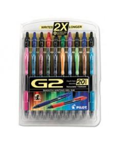 G2 Premium Retractable Gel Ink Pen, Assorted Ink, .7mm, 20/set