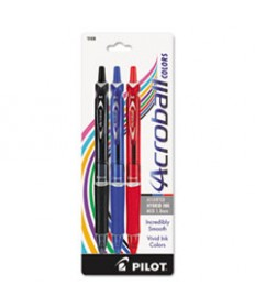 Acroball Colors Ball Point Pen, 1mm, Black/blue//red, 3/pack