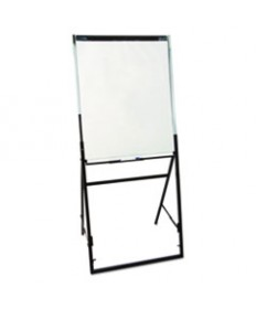 "Heavy-Duty Adjustable Instant Easel Stand, 25"" To 63"" High, Steel, Black"