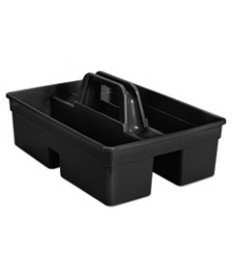 Executive Carry Caddy, 2-Compartment, Plastic, 10 3/4w X 6 1/2h, Black