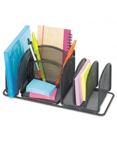 Deluxe Organizer, Six Compartments, Steel, 12 1/2 X 5 1/4 X 5 1/4