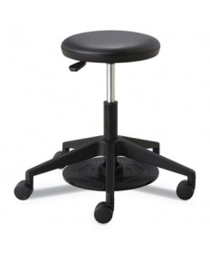 "Lab Stool, 24.25"" Seat Height, Supports up to 250 lbs., Black Seat/Black Back, Black Base"