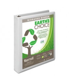 EARTH'S CHOICE BIOBASED D-RING VIEW BINDER, 5 CAPACITY, BLACK