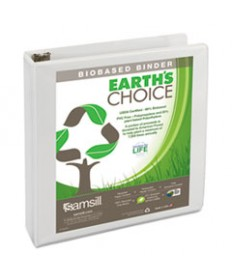EARTH'S CHOICE BIOBASED D-RING VIEW BINDER, 1 CAPACITY, BLACK