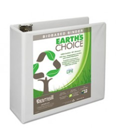 EARTH'S CHOICE BIOBASED D-RING VIEW BINDER, 3 CAPACITY, BLACK