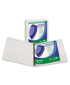 Clean Touch Round Ring View Binder, Antimicrobial, 1, Purple