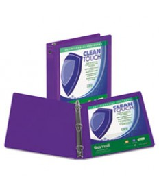 Clean Touch Round Ring View Binder, Antimicrobial, 2, Lime
