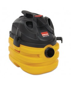 Heavy-Duty Portable Wet/Dry Vacuum, 5 gal Capacity, 11 amp, 17 lbs, Black/Yellow