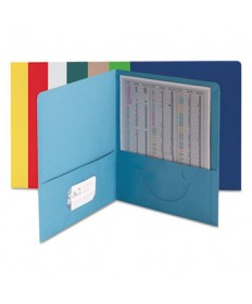 Two-Pocket Folder, Textured Paper, Assorted, 25/box