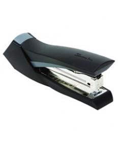Compact Desk Stapler, Half Strip, 20-Sheet Capacity, Black