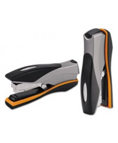 Optima Desktop Staplers, Full Strip, 40-Sheet Capacity, Silver/black/orange