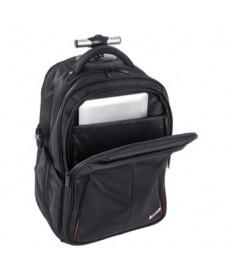 "Purpose Overnight Backpack On Wheels, 11"" x 11"" x 21.5"", Black"