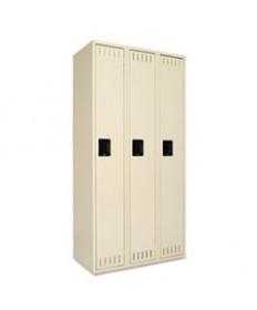 Single Tier Locker, 12w X 18d X 72h, Medium Gray