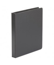 "Economy Non-View Round Ring Binder, 1"" Capacity, Black, 4 per Pack"