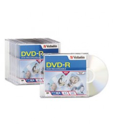 Dvd-R Discs, 4.7gb, 16x, W/slim Jewel Cases, 10/pack