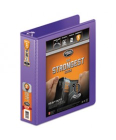 Heavy-Duty Round Ring View Binder W/extra-Durable Hinge, 1 1/2 Cap, Purple