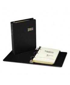Looseleaf Phone/address Book, 1 Capacity, 5 1/2 X 8 1/2, Black Vinyl, 80 Sheets