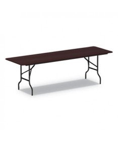 Wood Folding Table, 95 7/8w x 29 7/8d x 29 1/8h, Mahogany