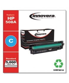 REMANUFACTURED CYAN TONER, REPLACEMENT FOR HP 508A (CF361A), 5,000 PAGE-YIELD