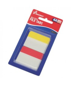 "7510016614494 SKILCRAFT Self-Stick Tabs/Page Markers, 2"", Bright, Asst, 44/Pack"