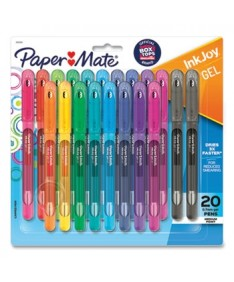 InkJoy Gel Pen, Stick, Medium 0.7 mm, Assorted Ink and Barrel Colors, 20/Pack