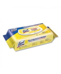 Disinfecting Wipes Flatpacks, 6.69 x 7.87, Lemon and Lime Blossom, 80 Wipes/Flat Pack