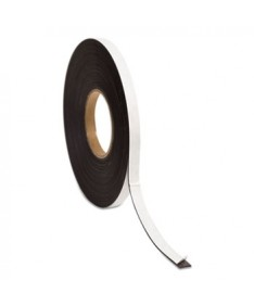 "Magnetic Adhesive Tape Roll, 0.5"" x 50 ft, Black, 1/Roll"